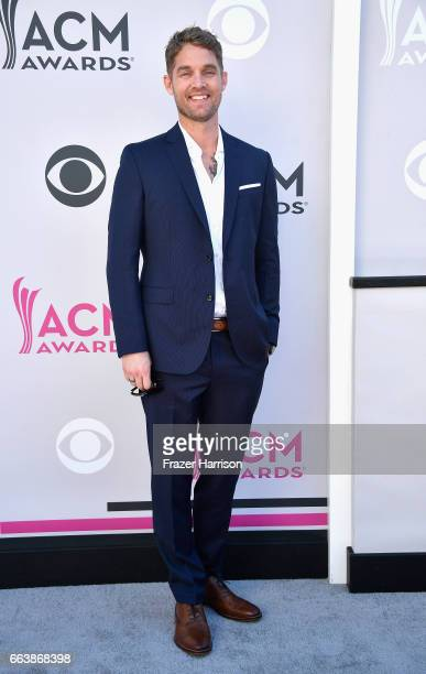 Singer Brett Young attends the 52nd Academy Of Country Music Awards at Toshiba Plaza on April 2 2017 in Las Vegas Nevada