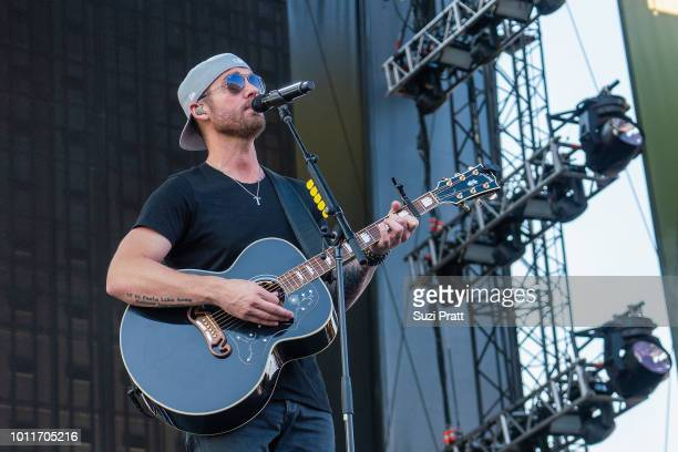 Singer Brett Young performs at Watershed Festival at Gorge Amphitheatre on August 5 2018 in George Washington