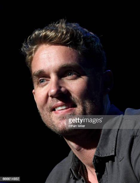Singer Brett Young performs during the ACM Party For A Cause The Joint at The Joint inside the Hard Rock Hotel Casino on April 1 2017 in Las Vegas...