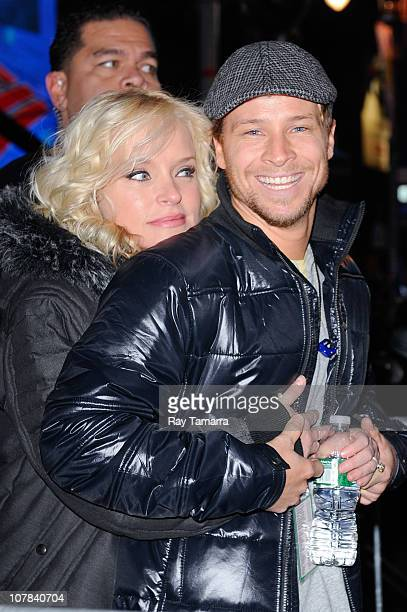Singer Brian Littrell of Backstreet Boys attends the New Year's Eve 2011 in Times Square on December 31 2010 in New York City