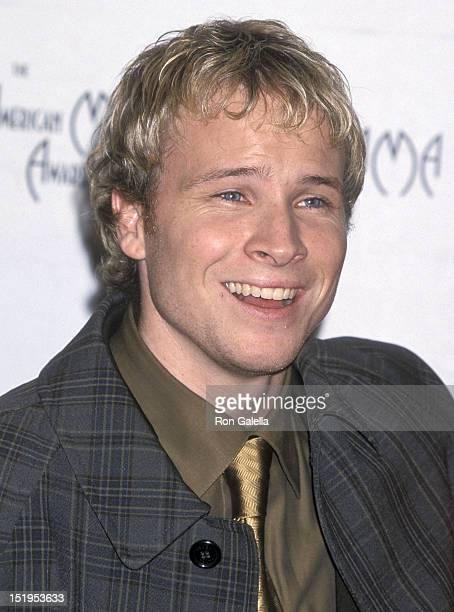 Singer Brian Littrell of the Backstreet Boys attends the 28th Annual American Music Awards on January 8 2001 at the Shrine Auditorium in Los Angeles...