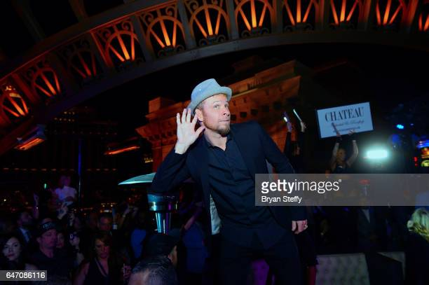 Singer Brian Littrell of the Backstreet Boys attends the after party of the debut of the group's residency 'Larger Than Life' at the Chateau...