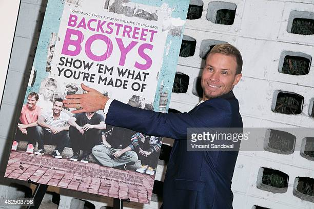Singer Brian Littrell of The Backstreet Boys attends the Los Angeles premiere of Backstreet Boys Show 'Em What You're Made Of at ArcLight Cinemas...