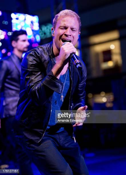 Singer Brian Littrell of the band Backstreet Boys performs onstage at the 2013 Grove Summer Concert Series at The Grove on July 31 2013 in Los...