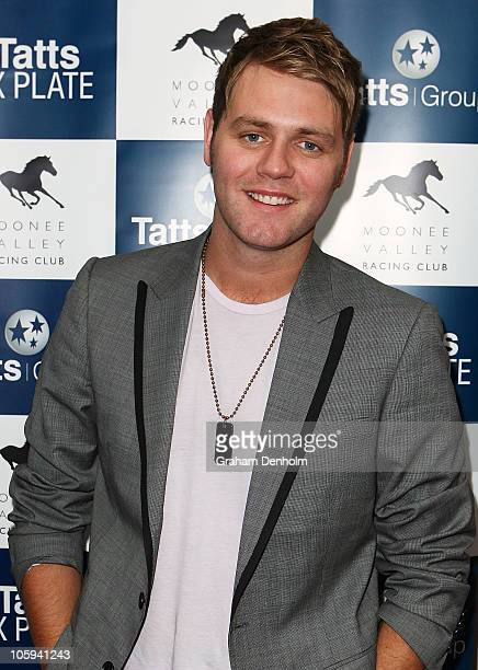Singer Brian McFadden attends the David Jones Ladies' Fashion Luncheon ahead of the Spring Racing Carnival on October 22 2010 in Melbourne Australia