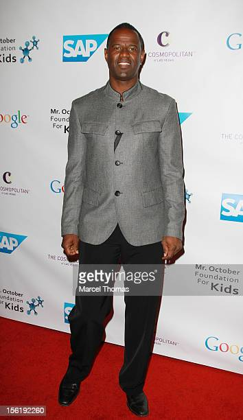 Singer Brian McKnight attends the 8th All Star Celebrity Classic benefiting the Mr October Foundation for Kids at Cosmopolitan Hotel on November 11...