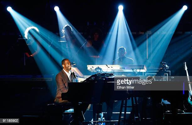 Singer Brian McKnight performs at the 14th annual Andre Agassi Charitable Foundation's Grand Slam for Children benefit concert at the Wynn Las Vegas...