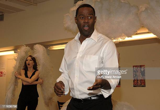 Singer Brian McKnight rehearses for his Broadway debut as Billy Flynn in Chicago at MTC Studios on October 2 2007 in New York City
