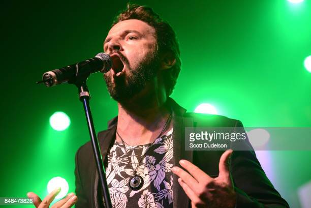 Singer Brian Plink performs onstage during the second annual Rock to Recovery benefit concert at The Fonda Theatre on September 16 2017 in Los...