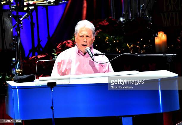 Singer Brian Wilson founding member of The Beach Boys performs onstage at The Fonda Theatre on December 20 2018 in Los Angeles California