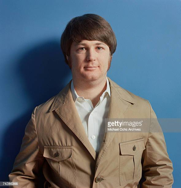 Singer Brian Wilson of the rock and roll group The Beach Boys poses for a portrait in early 1968 in Los Angeles California