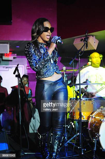 Singer Brianna perform at Club Play on May 13 2010 in Miami Beach Florida