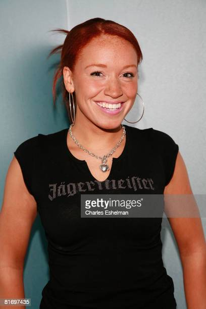 Singer Brianna Taylor poses for a photo before performing at the Canal Room on June 24 2008 in New York City