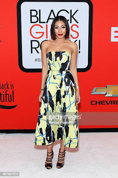 Singer Bridget Kelly attends the BET's Black Girls Rock Red Carpet sponsored by Chevrolet at NJPAC – Prudential Hall on March 28 2015 in Newark New...