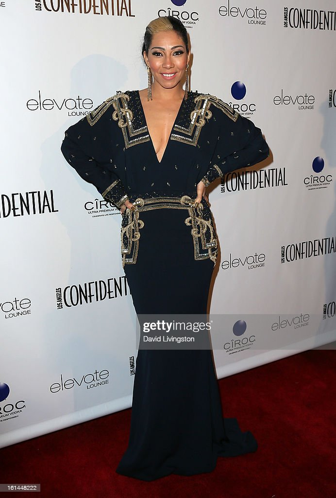 Singer Bridget Kelly attends the Los Angeles Confidential Magazine and Mary J. Blige celebration of the GRAMMY Awards at Elevate Lounge on February 10, 2013 in Los Angeles, California.