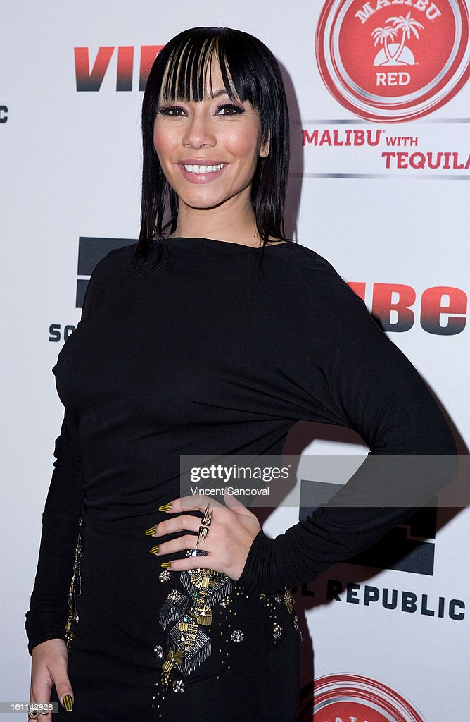 Singer Bridget Kelly attends VIBE Magazine's 20th anniversary celebration with inaugural impact awards - Arrivals at Sunset Tower on February 8, 2013 in West Hollywood, California.