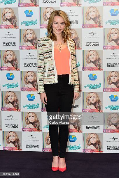 """Singer Bridgit Mendler presents her new album """"Hello My Name Is..."""" at the Hotel ME on February 25, 2013 in Madrid, Spain."""
