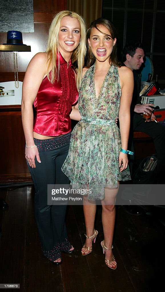 Britney Spears And Natalie Portman At New Year's Eve Party At Hudson Hotel : News Photo