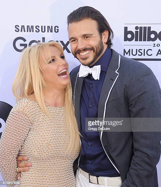 Singer Britney Spears and Charlie Ebersol arrive at the 2015 Billboard Music Awards at MGM Garden Arena on May 17 2015 in Las Vegas Nevada