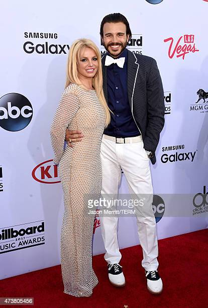 Singer Britney Spears and Charlie Ebersol attend the 2015 Billboard Music Awards at MGM Grand Garden Arena on May 17 2015 in Las Vegas Nevada