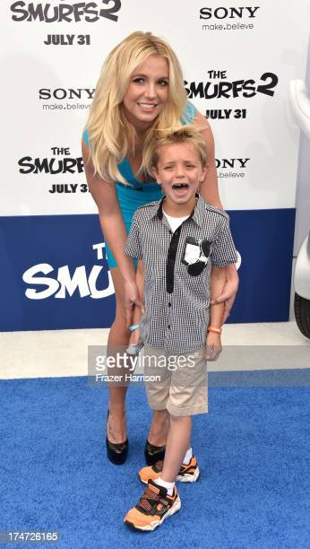 Singer Britney Spears and Sean Federline attend the premiere of Columbia Pictures' 'Smurfs 2' at Regency Village Theatre on July 28 2013 in Westwood...