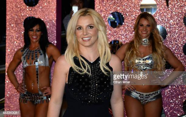 Singer Britney Spears arrives at a welcome ceremony as she celebrates the release of her new album 'Britney Jean' and prepares for her twoyear...
