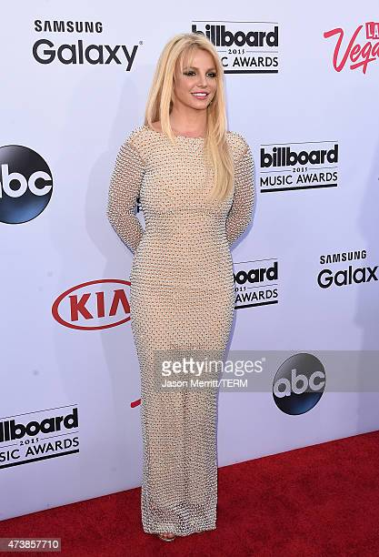 Singer Britney Spears arrives at the 2015 Billboard Music Awards at MGM Garden Arena on May 17 2015 in Las Vegas Nevada