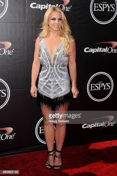 Singer Britney Spears arrives at The 2015 ESPYS at Microsoft Theater on July 15 2015 in Los Angeles California