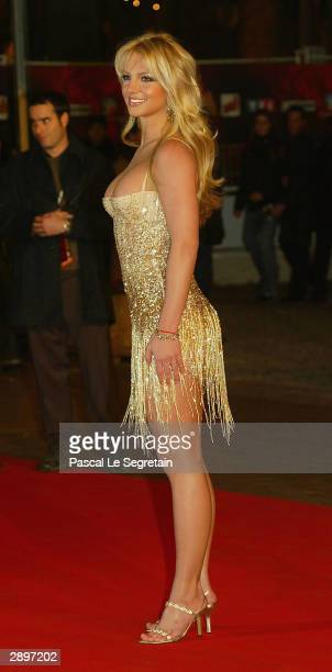 Singer Britney Spears arrives at the French NRJ Music Awards ceremony during the annual Midem music conference at the Palais des Festivals on January...