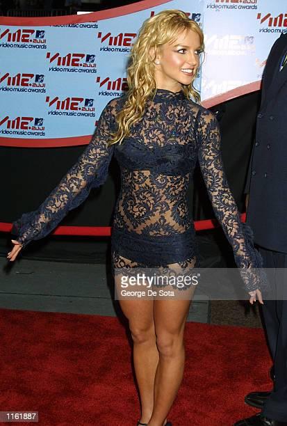 Singer Britney Spears arrives at the MTV Video Music Awards September 6 2001 in New York City