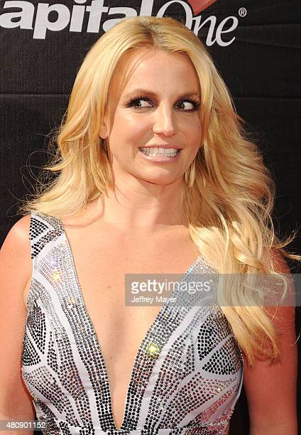 Singer Britney Spears arrives at the The 2015 ESPYS at Microsoft Theater on July 15 2015 in Los Angeles California