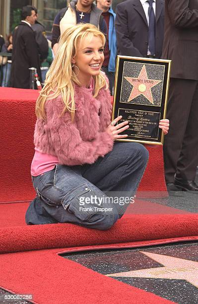 Singer Britney Spears at the star ceremony honoring her on the Hollywood Walk of Fame