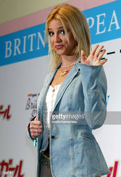 Singer Britney Spears attends a media conference to promote her new film 'Crossroads' April 21 2002 in Tokyo Japan Crossroads is her first lead role...