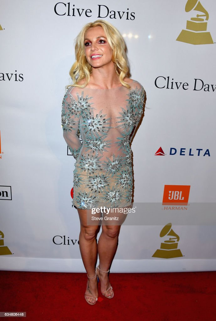 Singer Britney Spears attends Pre-GRAMMY Gala and Salute to Industry Icons Honoring Debra Lee at The Beverly Hilton on February 11, 2017 in Los Angeles, California.