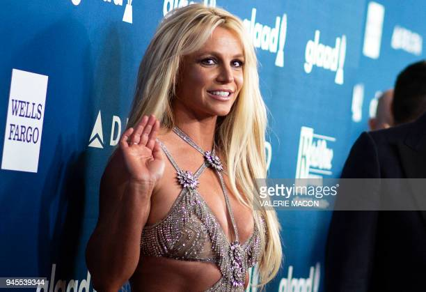Singer Britney Spears attends the 29th Annual GLAAD Media Awards at the Beverly Hilton on April 12 2018 in Beverly Hills California / AFP PHOTO /...