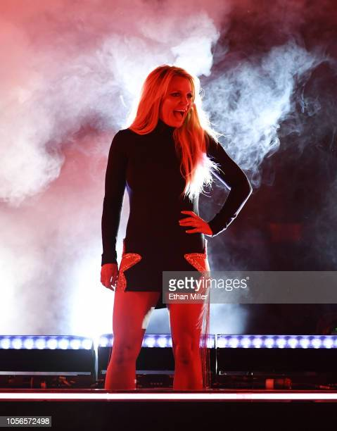 Singer Britney Spears attends the announcement of her new residency Britney Domination at Park MGM on October 18 2018 in Las Vegas Nevada Spears will...