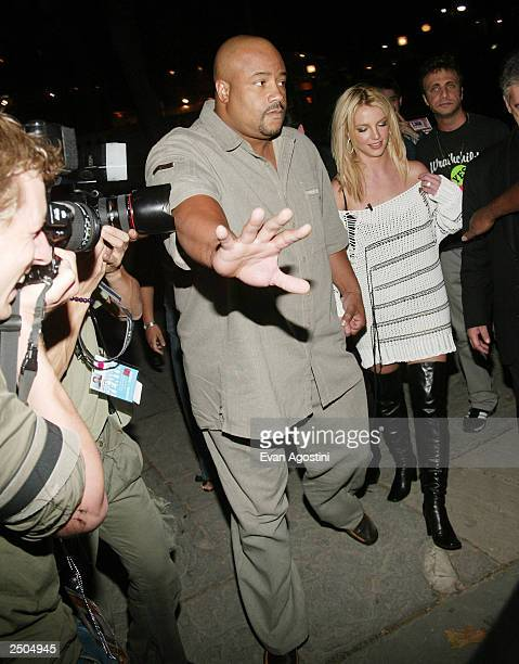 Singer Britney Spears attends the Diesel StyleLab Spring/Summer 2004 Fashion Show during MercedesBenz Fashion Week at Bryant Park September 17 2003...