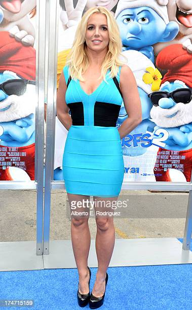 "Singer Britney Spears attends the premiere Of Columbia Pictures' ""Smurfs 2"" at Regency Village Theatre on July 28, 2013 in Westwood, California."