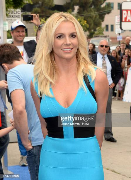 Singer Britney Spears attends the premiere of Columbia Pictures' Smurfs 2 at Regency Village Theatre on July 28 2013 in Westwood California