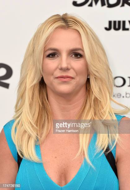 Singer Britney Spears attends the premiere of Columbia Pictures' 'Smurfs 2' at Regency Village Theatre on July 28 2013 in Westwood California