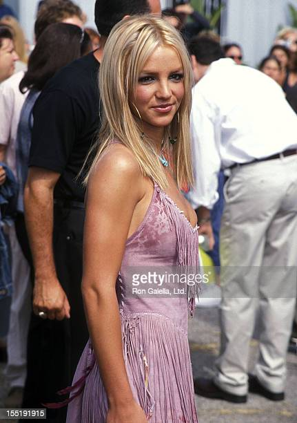 Singer Britney Spears attends the Second Annual Teen Choice Awards on August 6 2000 at The Barker Hangar Santa Monica Air Center in Santa Monica...