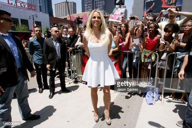 Singer Britney Spears attends The XFactor Kansas City Auditions at Sprint Center on June 8 2012 in Kansas City Missouri
