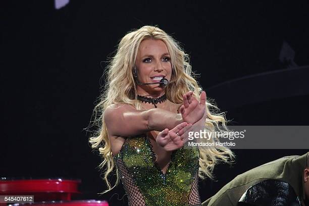 Singer Britney Spears during the residency show Britney Piece of Me at The AXIS auditorium located in the Planet Hollywood Resort Casino Las Vegas...
