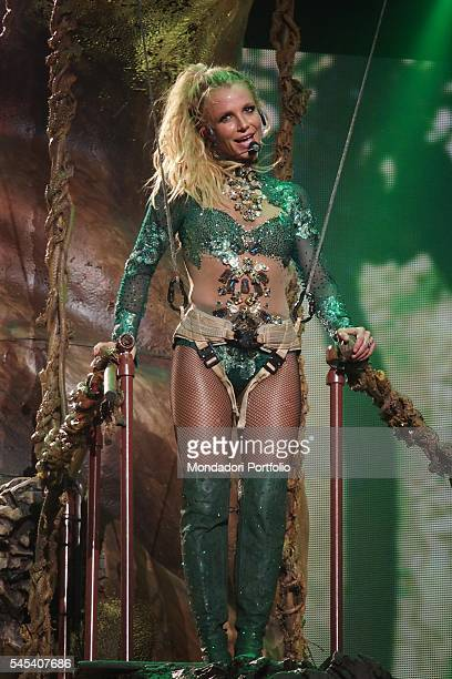 Singer Britney Spears during the residency show Britney: Piece of Me at The AXIS auditorium located in the Planet Hollywood Resort & Casino. Las...