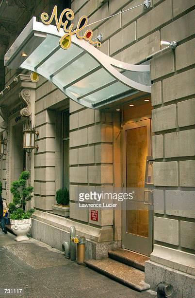 Singer Britney Spears' new restaurant NYLA is seen June 14 2002 in New York City The restaurant is part of the Dylan Hotel on E 41st street