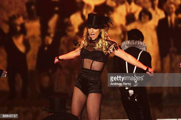 Singer Britney Spears performs at the Bambi Awards 2008 Show on November 27 2008 in Offenburg Germany