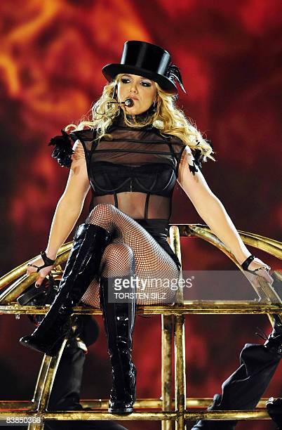 US singer Britney Spears performs before being awarded with a special Bambi category 'pop international' during the 60th edition of the Bambi media...