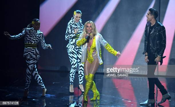 Singer Britney Spears performs during the 2016 MTV Video Music Awards August 28, 2016 at Madison Square Garden in New York.