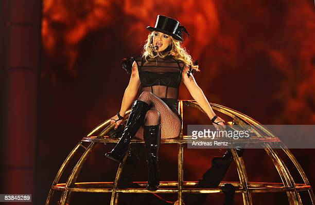 Singer Britney Spears performs during the Bambi Awards 2008 Show on November 27 2008 in Offenburg Germany