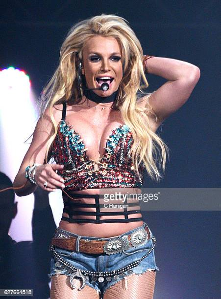 Singer Britney Spears performs during the Now 997 Triple Ho Show 70 at SAP Center on December 3 2016 in San Jose California